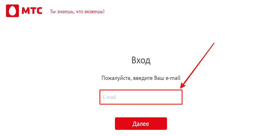 На следующем шаге нужно указать электронную почту